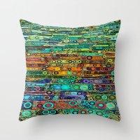 :: Technicolor Walkway :… Throw Pillow