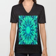 Unisex V-Neck featuring Teal. by 2sweet4words Designs