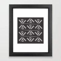 charcoal wreath Framed Art Print