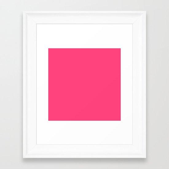 Intensively Pink Framed Art Print