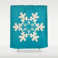Snowflake, Winter, Chris… Shower Curtain