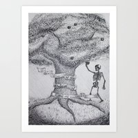 TREE OF GOOD AND EVIL Art Print