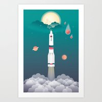 Lift Off Art Print