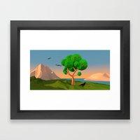 The apple tree Framed Art Print