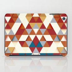 Colorfull abstract autumn triangle pattern  iPad Case