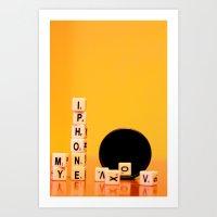 My phone Art Print
