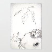 Fish and Avocado Canvas Print