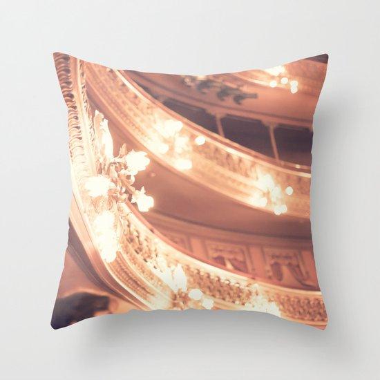 Pink Theater Lights  Throw Pillow