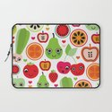 Colorful fruit cartoon characters illustration pattern Laptop Sleeve