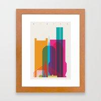 Shapes Of Boston. Accura… Framed Art Print
