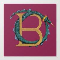 Animal Alphabet The Basilisk Canvas Print