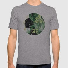 Squirrel And Leaf No. 3 Mens Fitted Tee Athletic Grey SMALL