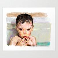 Bath contemplation  Art Print