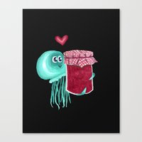 jelly's soul mate Canvas Print