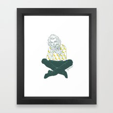 Banana Boy Framed Art Print