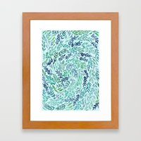 Wild Scattered Branches Framed Art Print