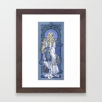 Galadriel Nouveau Framed Art Print