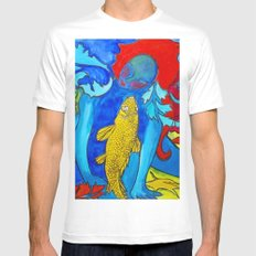 My Fish Mens Fitted Tee White SMALL