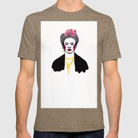 Frida Kahlo Mens Fitted Tee Tri-Coffee SMALL