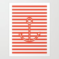 Sailing forward Art Print