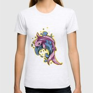 Tattoo Fish Womens Fitted Tee Ash Grey SMALL