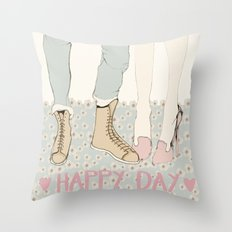 HAPPY DAY Throw Pillow