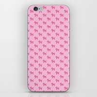 Dogs-Pink iPhone & iPod Skin