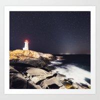 Zodiacal Lighthouse Art Print