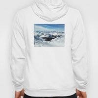 low poly mountains Hoody