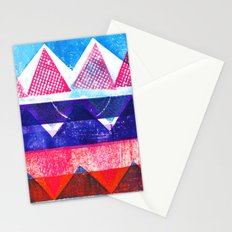 Press print and digital triangles Stationery Cards