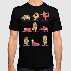 Sloth Yoga SMALL Black Mens Fitted Tee
