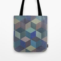 Dimension in blue Tote Bag