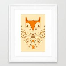 Ornate Fox Framed Art Print