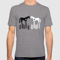 Love Connects Unicorn Mens Fitted Tee Tri-Grey SMALL