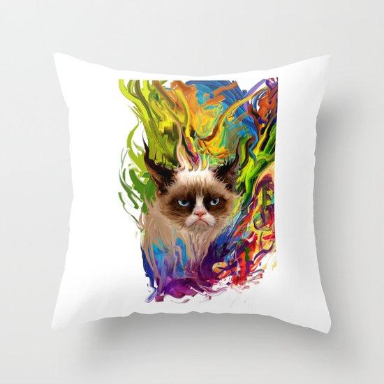 grumpys rich inner world Throw Pillow