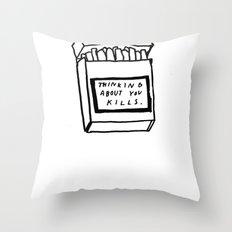 SMOKING ABOUT YOU Throw Pillow