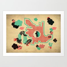 Dragon Playground Art Print