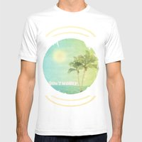 Don't Worry Mens Fitted Tee White SMALL