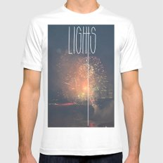 SKY LIGHTS SMALL White Mens Fitted Tee