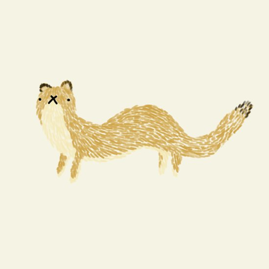 Fluffy Weasel Art Print