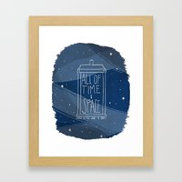 All Of Time And Space Framed Art Print