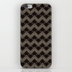 Taupe Geometric Art Deco Chevron Pattern iPhone & iPod Skin