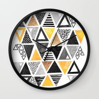 Triangle Abstract / Blac… Wall Clock
