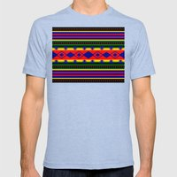 Aztec Summer Mens Fitted Tee Tri-Blue SMALL