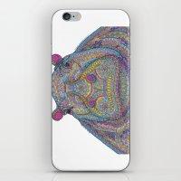 Hippie-Potamus (Multicol… iPhone & iPod Skin