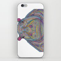 Hippie-Potamus (Multicol… iPhone & iPod Skin