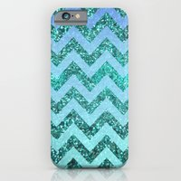 glittery ocean chevron iPhone 6 Slim Case