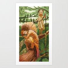 Parrot King Art Print