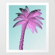 Pink Palm Tree Art Print
