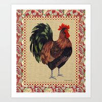 Whitney Farms Rooster 2 Art Print
